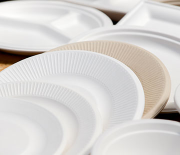 Stack of disposable plates