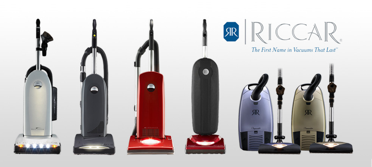 Row of Riccar vacuum cleaners